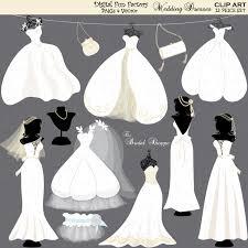 "Wedding Clip Art Clipart ""Wedding Dress Wedding Clip Art"" Wedding Silhouette Clip Art Wedding"