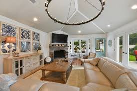 Living Room With Fireplace In The Middle by Fleurty Founder U0027s Giant Lakewood Home On The Market For 1 15