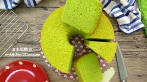 pandan chiffon cake mykitchen101en