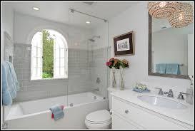 grey subway tile bathroom ideas tiles home design ideas