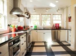 Kitchen Floor Tile Ideas With Light Wood Cabinets