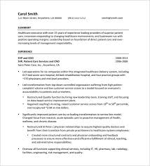 Senior Executive Resume PDF Free Download