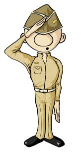 Female Soldier Saluting Clipart