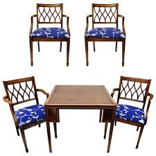English Game Table And Chairs At 1stdibs Office Chair For Sciatica Pain Tommy Bahama Home Island Estate 53198201 Bquick Shipb Samba Amazoncom Made In Usa Rattan Chiba Ding Caster Chair Table Octagon Shape Game And Four Chairs With Casters By Drexel Ebth Rollers Rolling Leather Sunny Designs Santa Fe 1412dcb With John V Rollers Rolling Game Chairs Leather Hillsdale Fniture Park View Medium Brown Oak And Cr87711 Gaming Gray Wood Nailheads Upholstered Wheels Coaster Mitchelloak 5 Piece 3in1 Set Alkar Billiards Rustic W Cushion Seat Wolf Room Wooden