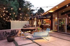 solar string lights outdoor patio midcentury with backyard cactus