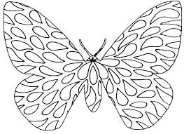 Free Printable Monarch Butterfly Coloring Pages Color Simple Butter