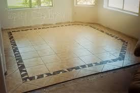 Dining Room Tile Floor Finished