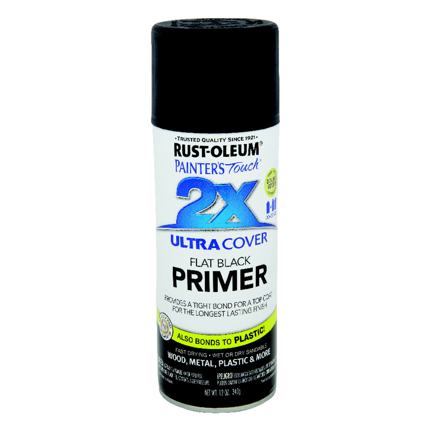 Rust-Oleum Ultra Cover 2X Primer Spray - Black, 12oz