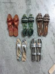 Footwear With Ice Cream Sticks