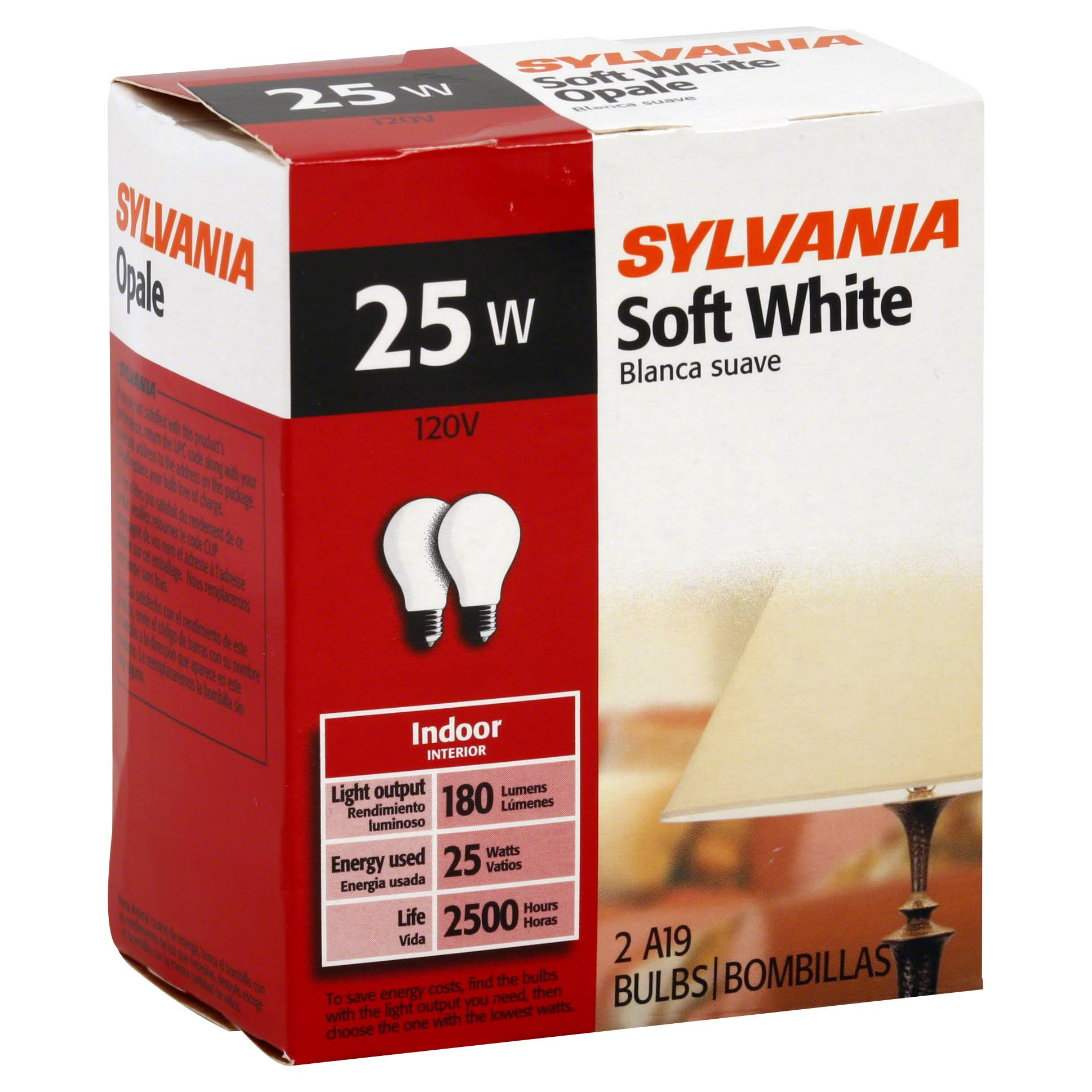 Sylvania Lighting Bulb - 25W, Soft White