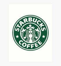 210x230 Starbucks Logo Drawing Art Prints Redbubble