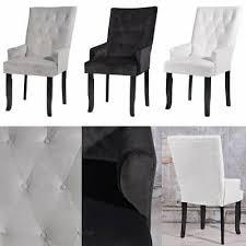 stuhl esszimmerstuhl samtstuhl lehnstuhl hochlehner samt polsterstuhl armlehne