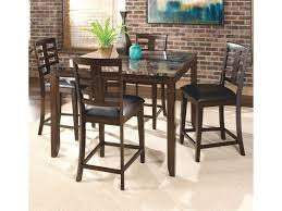 5 Piece Counter Height Dining Set With Faux Marble Top ...