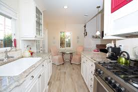 traditional kitchen with tile breakfast nook in point