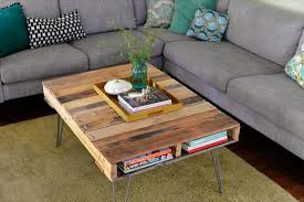 Pallet Coffee Table With Metal Hairpin Legs Diy 99 Pallets How To