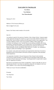 Who To Address Cover Letter Teaching