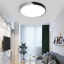 led deckenleuchte rund design in schwarz weiß für wohnzimmer