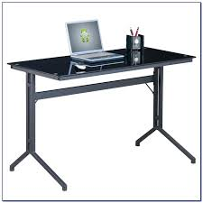 Tempered Glass Computer Desk by Staples Canada Glass Computer Desk Staples Black Glass Computer