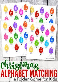 Printable Christmas Alphabet Matching File Folder Game