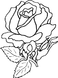 Flower Rose Coloring Pages Printable