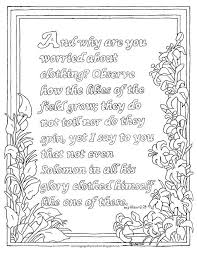 Coloring Pages For Kids By Mr Adron Printable Page Matthew 628