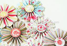 2015 New Diy Party Decor Ideas Paper Fan Backdrop Flowers Flower GarlandGarland For Rosette