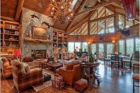 Log Home Interior Decorating Ideas Luxury Living Room With Log Cabin Feel Log Home Interior