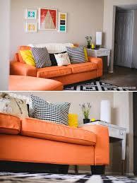 Ikea Kivik Sofa Bed Slipcover by Replacement Kivik Sofa Covers In Kino Orange Fabrics