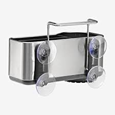 amazon com simplehuman sink caddy brushed stainless steel home