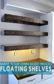 Artisan Des Arts Aged Wood Floating Shelves