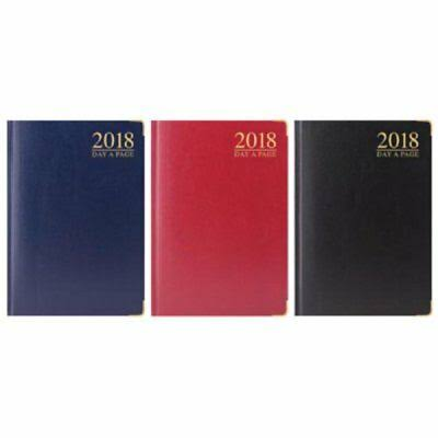 2020 A4 Day A Page Luxury Padded Hardback Diary with Gilded Edge