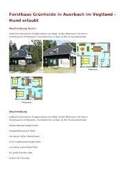 forsthaus grünheide in auerbach im vogtland hund erlaubt