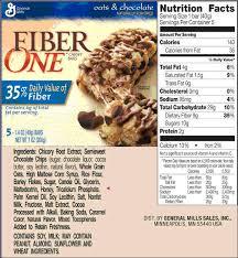 Granola Bar Food Label Random Task Food Fiber One Chewy Bars