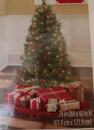 Pre Lit Christmas Tree 4 Ft Indiana Spruce White Lights New Realistic 1 Of 3Only Available