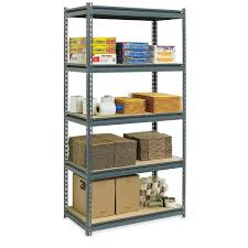 Edsal Metal Storage Cabinets by Furniture Cozy Ultra Rack Heavy Duty Boltless Shelving In Gray By