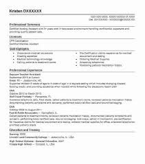 Daycare Resume Objective Create My Child Care Examples