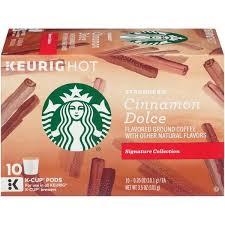 Starbucks Cinnamon Dolce Flavored Ground Coffee K Cups