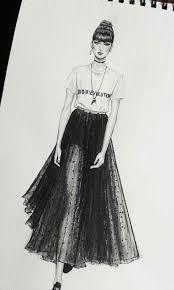 Got Started And Original Design Sketch For Elizabeth Taylor From Storage Vintage Chanel Fashion Sketches