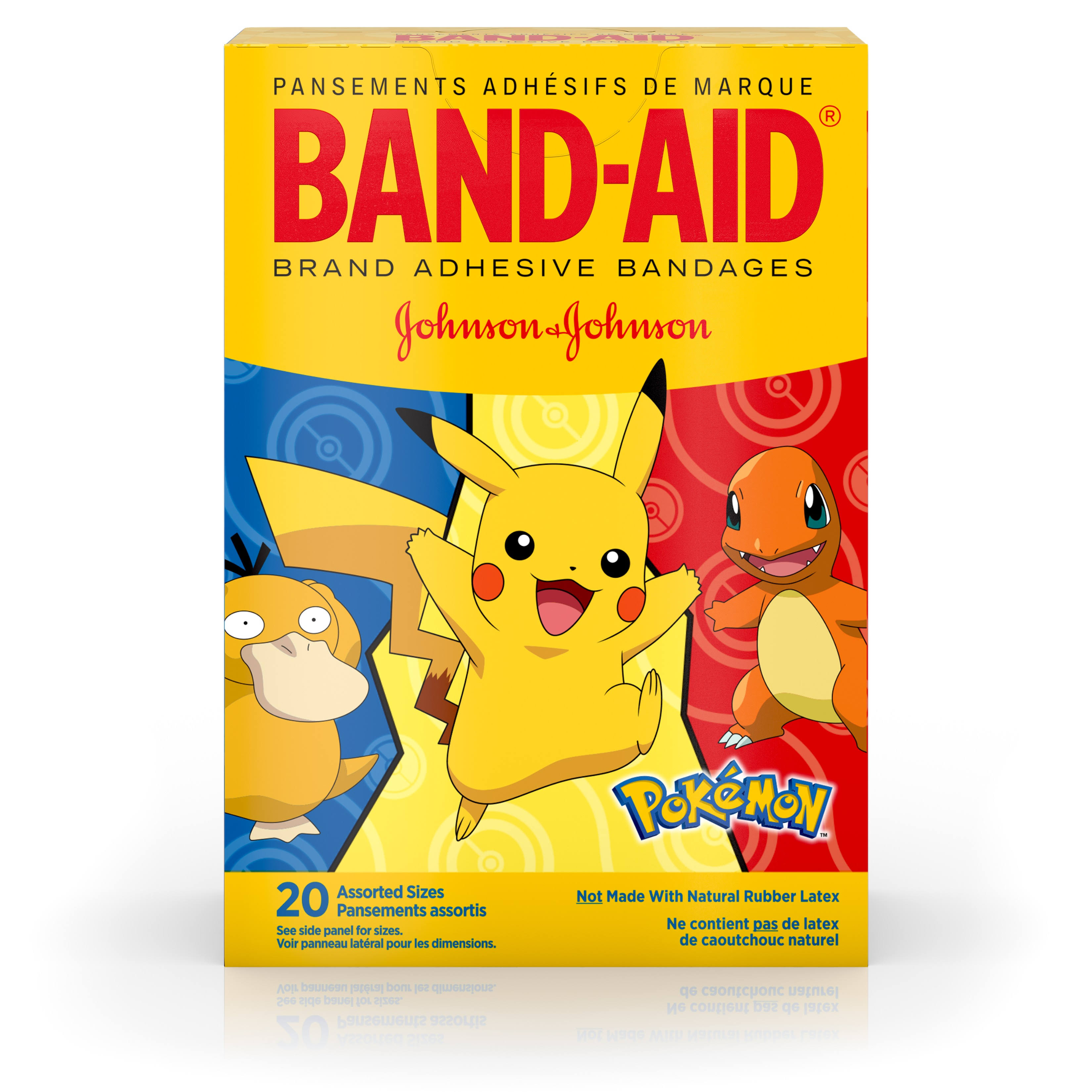 Band Aid Bandage, Pokemon, Assorted Sizes - 20 bandages