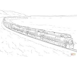 Click The Freight Train Coloring Pages