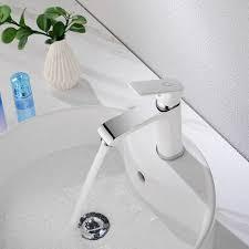 cecipa design wasserhahn bad osmose armatur waschtischarmatur einhebelmischer mischbatterie waschbeckenarmatur für badezimmer waschbecken weiß