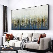 100 handmade grün blau gras gold abstrakte malerei moderne kunst bild für wohnzimmer moderne cuadros leinwand kunst hohe qualität
