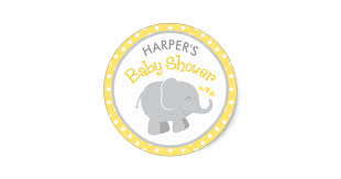 Baby Shower Logo by Yellow Gray Baby Shower Gifts On Zazzle