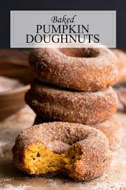 Pumpkin Cake Mix Donuts by Healthier Baked Pumpkin Donuts Recipe A Side Of Sweet
