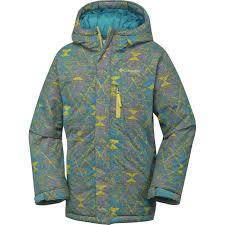 Columbia Boys Alpine Free Fall Jackets Deep Marine Print C2113432columbia Sportswear Companycolumbia
