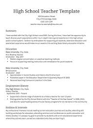 Resume Templates Sample Resumes
