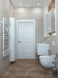 badezimmer modern in pastellfarben für ein büro oder haus 3d übertragen