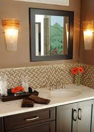 bathroom mirror and backsplash idea for the home pinterest