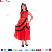 2017 new girls red long dresses kids clothes young party