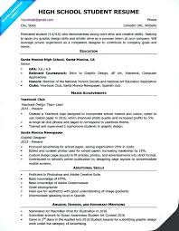 Summer Intern Resume Objective College Student For Internship Examples Of Resumes High School Sample O